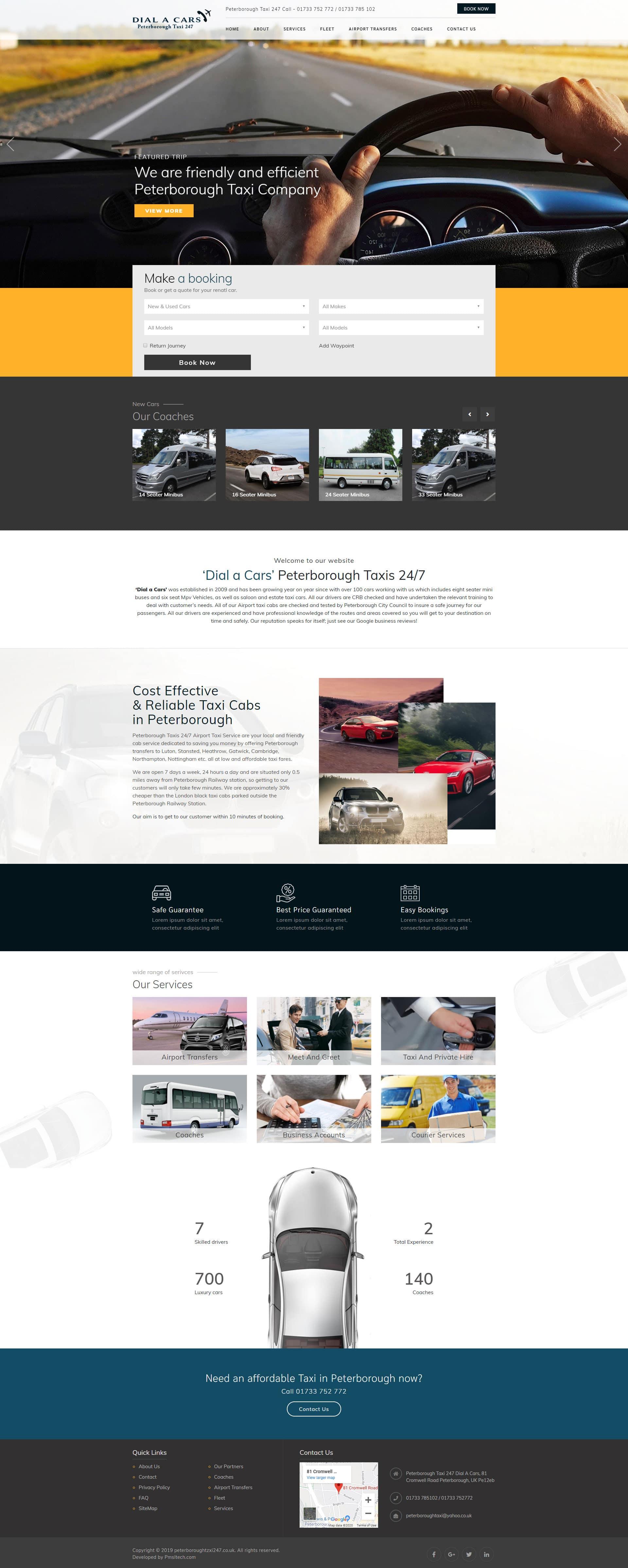 Car Booking Website Design